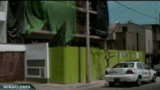 Obrero muere al caer del sexto piso de un edifico en Miraflores