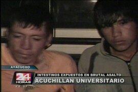 Ayacucho: encarcelan a dos sujetos que acuchillaron y robaron a universitario