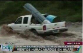 Áncash: Intensas lluvias y vientos azotan Huari