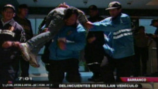 Barranco: delincuentes chocan auto donde huían de serenazgo