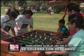 Limeños celebran en centros de esparcimiento de Chosica el Día del Trabajo