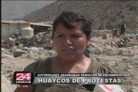 Chosica: claman ayuda para reconstruir viviendas destrozadas por huaicos