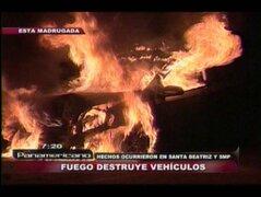 VIDEO: auto choca con un muro y se incendia en Santa Beatriz