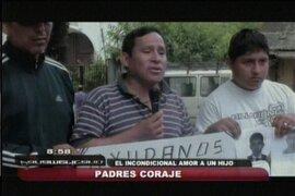 Padres coraje: Dionisio Vilca, Ciro Castillo y Felipe Bazán