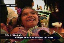 Romina Cornejo en manos de la terapia electroneuromedular del doctor Font