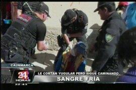 Cajamarca: cortan yugular a hombre con un vidrio