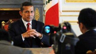 Aprobación de Ollanta Humala cae a 49% según GfK