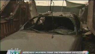 Dos niños mueren calcinados al incendiarse un vehículo en el que jugaban