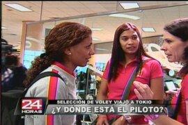 Selección peruana de vóley tuvo retraso en su viaje a Tokio