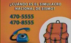 Responde a la pregunta ¿Cuándo y a qué hora es el Simulacro Nacional de Sismo?