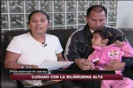 Menor queda con parálisis facial debido al diagnóstico tardío de la ictericia