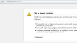 Colapsó portal web para inscripción de exaportantes al Fonavi