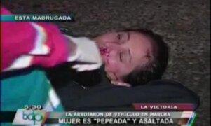 La Victoria: mujer salva de morir tras ser arrojada de vehículo en marcha