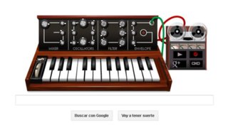 Google rinde homenaje a Robert Moog con un doodle