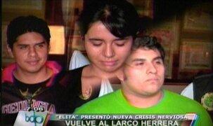 Elizabeth Espino vuelve a Larco Herrera tras nueva crisis nerviosa