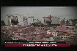 Silencio sísmico en Lima es preocupante, concluyen estudiosos
