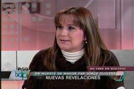 Viuda de mayor FAP Jorge Olivera: Dinincri me aseguró que mi esposo fue asesinado
