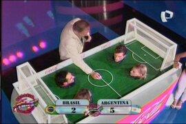 Argentina vence a Brasil en 'Rómpete el ojo' y  prueba del 'soplador'