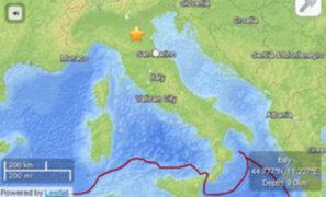 VIDEO: temblor en Italia deja cuatro heridos y considerables daños materiales