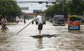 Fuertes lluvias en China dejan millonarias pérdidas económicas