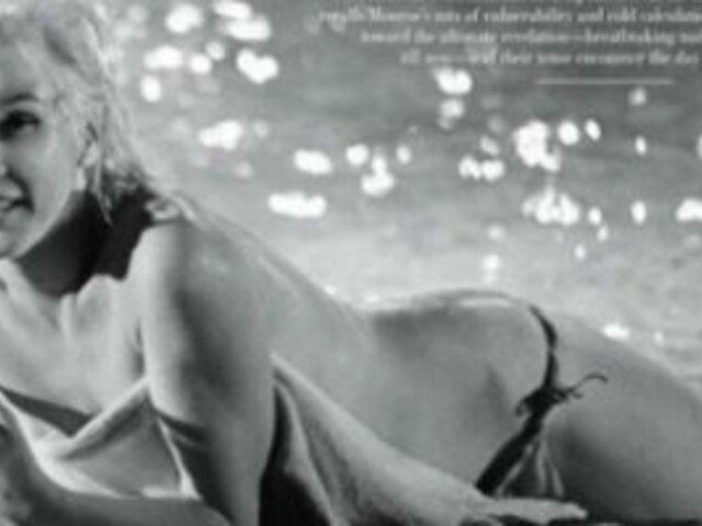 Publican fotos inéditas de Marilyn Monroe desnuda