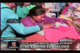 Se espera el diálogo en Espinar