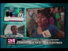 """Pánico ocasionado en el Tren Eléctrico es una """"exageración"""", según Deustua"""