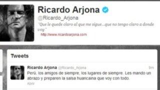 Ricardo Arjona: Preparen la salsa huancaína que voy con todo