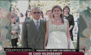 Detalles e imágenes del matrimonio de César Hildebrandt con Rebeca Diz