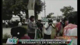 Huacho: Escolares alarmados tras explosión de bombas lacrimógenas en colegio