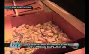Decomisan más de 900 kilos de material explosivo en Chilca