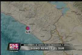 Sismo de regular intensidad sacude Ica, Moquegua y Arequipa