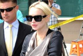 Dan de alta a Lindsay Lohan tras aparatoso accidente vehicular