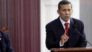 Presidente Humala: Política hídrica será instrumento de la inclusión social