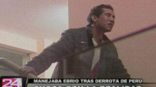 Enfurecido por derrota de Perú conductor ebrio arrolló a taxista