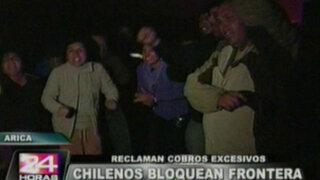 Bloquean vía Tacna - Arica  y violencia en Chile por homenaje a Pinochet
