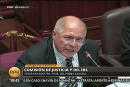 """San Martín: """"Según orden vigente no se puede interceptar a un congresista"""""""