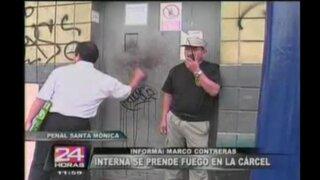 Interna se prende fuego en el Penal de Mujeres de Chorrillos