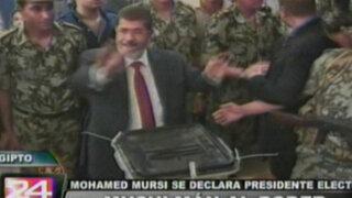 Islamita Mohamed Mursi habría ganado la presidencia de Egipto
