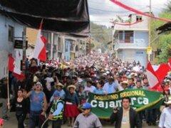 Protestas antimineras en Bambamarca pese a estado de emergencia