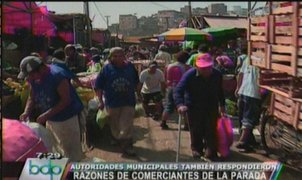 Dirigente de La Parada anuncia protesta mayor que Conga si los trasladan