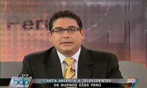 Periodista Jaime Chincha rechaza afirmaciones de Claudia Cisneros