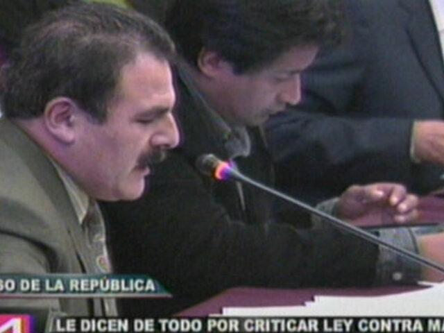 Critican a Rimarachín por oponerse al uso de la fuerza policial en Cajamarca
