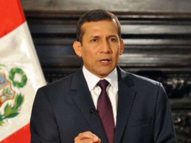 Presidente Humala: Debemos construir la confianza de la ciudadanía en el Estado