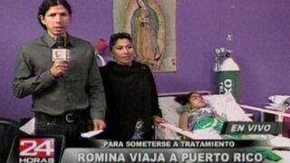 Gracias a Panamericana TV, niña Romina viajará para someterse a nuevo tratamiento