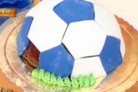 """Aprende a preparar una riquísima """"torta futbolera"""""""