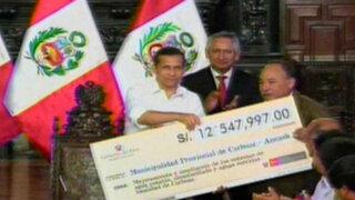 Presidente Ollanta Humala garantiza servicios de agua y luz en todo el país