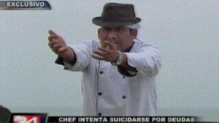 Chef intenta suicidarse por deudas en medio del llanto de familiares