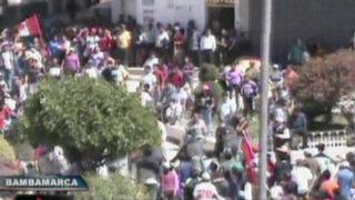 VIDEO: imágenes exclusivas de violentos enfrentamientos en Cajamarca