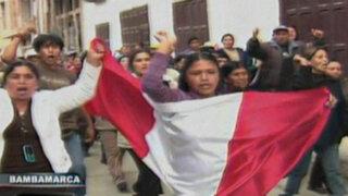 Cajamarca: antimineros toman calles y recuerdan a víctimas de enfrentamientos